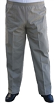 Men's Full Elastic Waist Twill Pant - No Zip, Button or Loops