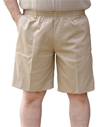 Men's Full Elastic Waist Twill Walking Shorts - No Zip, Button or Loops