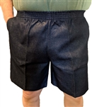 Men's Full Elastic Waist Denim Walking Shorts - No Zip, Button or Loops
