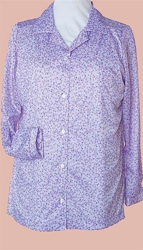 adbe2e87869461 Long Sleeve Polyester Button Down Blouse