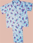Poly/Cotton Short Sleeve Pajamas